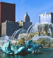 Photo: Buckingham Fountain in Chicago where CR&Z provides comprehensive representation in complex commercial disputes, employment agreements and business dissolutions.